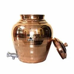 Plain kulfi copper pot, Size: 4, Capacity: 15ltrs