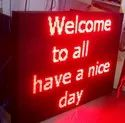 Multicolor Red Led Screen Sign Board, For Industrial Purpose, Size: 6x3 Feet