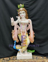 Export Quality White Marble Krishna Statue