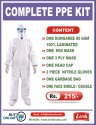 COMPLETE PPE KIT 80 GSM DUNGAREE 100% LAMINATED