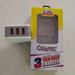 3.4 Amp Three Port USB Charger
