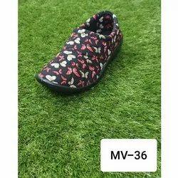 Ladies Designer Fabric Slip On Shoes