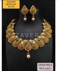 876 Rajwadi Antique Necklace Sets