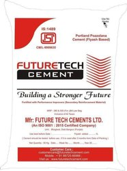Future Tech Portland Pozzolana Cement, Packaging Size: 50 Kg, Grade: 53 Mpa