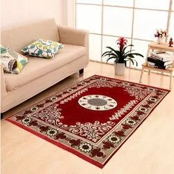 For Home,Hotel Mehroon Cotton Room Carpet