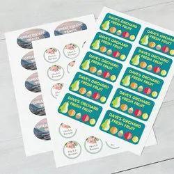 Rectangular Printed Vinyl Adhesive Stickers, Packaging Type: Sheet