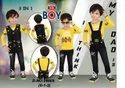 Black And Yellow Boys Fancy Party Wear