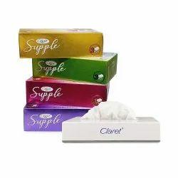 Claret Penta Pack Supple 4 In 1 Facial Tissue Box With Small Facial Tissue Dispenser