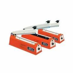 Eminent Mild Steel Hand Impulse Sealer Machine, Capacity: 50 Pouches Per Hour