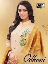 South Cotton Straight Odhani Vee Fab Readymade Dress, Handwash