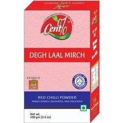 Cent% Degh Laal Mirch, Packaging Size: 100 gm