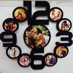 Round Photo Frame With Clock