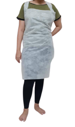White Barber Aprons, For Hair Stylists, Barbers, Size: Large