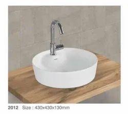 Ceramic Wall Mounted Wash Basin, For Bathroom