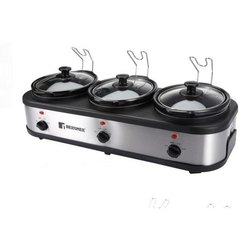 Bg 194 Capacity(Litre): 1.5 L Each Bergner Elite Triple Pot Slow Cooker, 100 W X 3