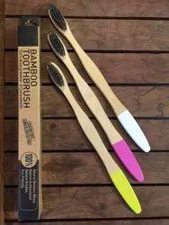Bamboo Toothbrush ( Bottom Vegan Paint Handle) 100% Fungus Free With Report