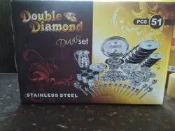 Double Diomond 51 Pcs Dinner Set
