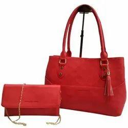 Red Pu Leather HAND BAG SET NO-11118