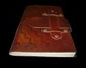 Buckle Closure Embossed Handmade Leather Journal