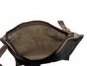 Gray Soft Leather Sling Pouch