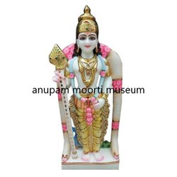 Marble Murugun Swami Statue
