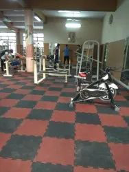 Tile/Marble/Concrete Rubber Flooring Services, For Indoor, Anti-Skidding