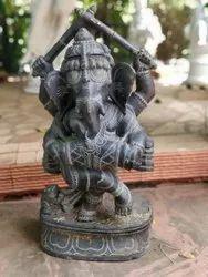 Ganesha Black Marble Statue