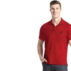 Plain Cotton Jockey Shanghai Red Sport Polo T-Shirt