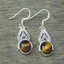 Women Wholesale Earring Jewelry 925 Sterling Silver Black Rutile Stone We-4074