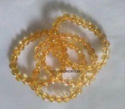 Citrine Bracelet Faceted Beads