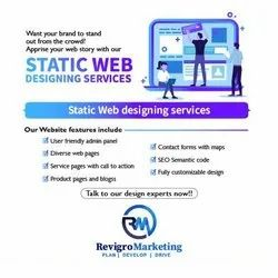 Static Website Designing Services, With Online Support