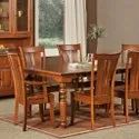 Brown 6 Seater Wooden Dining Table, For Home