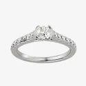 Round Brilliant Moissanite Ring, Engagement Ring, Diamond Ring for Women