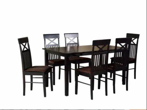 3 Piece Dining Set Momoko 6 Seater Dining Set In Wenge Finish Manufacturer From Bengaluru