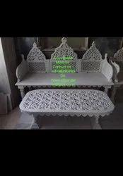 Bench Table Decorative Stone Art