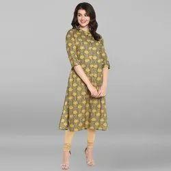 Janasya Women's Multicolor Pure Cotton Kurta(JNE3532)
