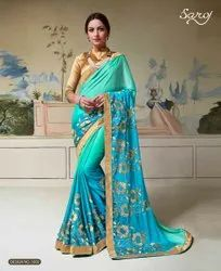 Party Wear Fancy Rangoli  Silk Saree