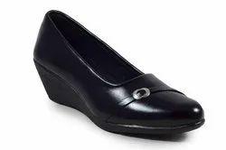 Slip On Black Ladies Formal Wear Shoes, Size: 5-8