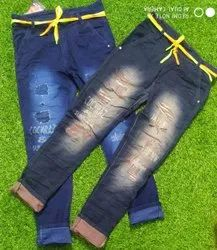 Cocmraz Regular Jeans Printed Rough Funky, Waist Size: 28 to34