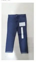Blue Kids Girls Woven Denim Pants, Age Group: 3 Month To 24 Month