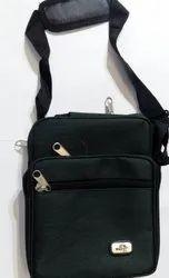 Black Adjustable Sling Bag, For Casual Wear