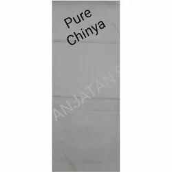 For Garments Pure Chinya White Plain Fabric