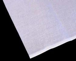 Plain White Kohinoor Checks Shirting Cotton Fabric, For Shirt,Jain Sadhu, 44 Inch