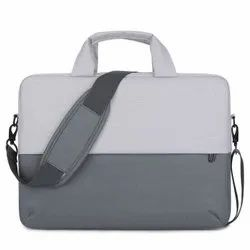 Grey & White Nylon Office Laptop Bag For Men And Women 15.6Inch, Capacity: 15 Kg
