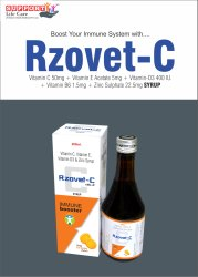 Vitamin -C 50mg   Vitamin-E Acetate 5mg   Vitamin D3 400iu   Vitamin B6 1.5mg   Zinc Sulphate 22.5mg