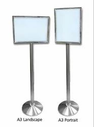 Stainless Steel Menu Stand