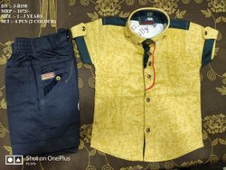VERY STYLISH EASY NECK DESIGN SHIRT & PANT SET FOR BOYS