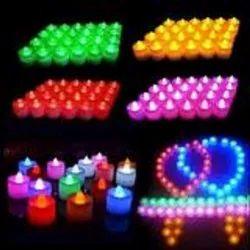 Round D0241_Festival Decorative - LED Tealight Candles (Multi, 24 Pcs), For Decoration