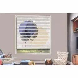 White Modern Designer Window Blind, For Decoration