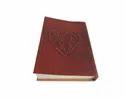 Heart Embossed Handmade Leather Journal